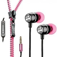 Zipbuds FRESH Noise-Isolating Metal Earbuds with 3-Button Mic/Remote and Tangle Free Zipper Cabling (Pink):Amazon:Electronics