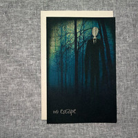 Halloween Slenderman Card Spooky Internet Meme Urban Legend