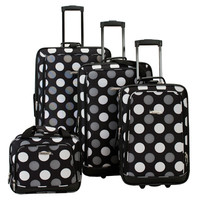 Rockland 4-Piece Luggage Set - Dots | Meijer.com