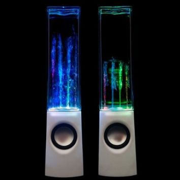 Leading Edge - Water Dancing Speakers White (white):Amazon:Computers & Accessories