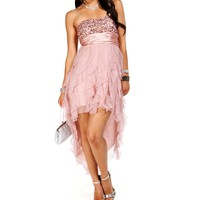 Glinda-Dusty Pink Homecoming Dress