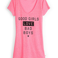 Burnout V-neck Tee - Supermodel Essentials - Victoria's Secret