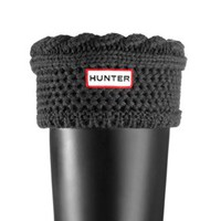 Moss Cable Cuff Welly Socks - Graphite | Hunter - Mobile