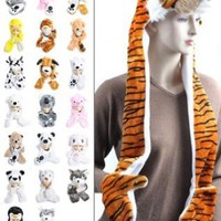 'Hat-imals' Plush Animal Winter Hats with Paws (Collection 4):Amazon:Clothing
