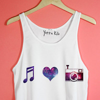 Music Love Camera Crop Tank Top | Yotta Kilo