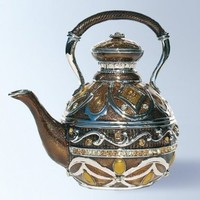 Teapot Box set with Swarovski Crystals Tea Kettle Pill Box Coffee Pot with Handle:Amazon:Jewelry