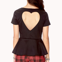 Sweetheart Peplum Top | FOREVER 21 - 2040496378