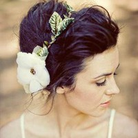 Nature girl halo in ivory by mignonnehandmade on Etsy