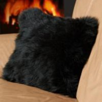 Black Sheepskin Pillow : Sheepskin Blankets & Pillows at Sheepskin Town