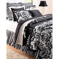 Amity Home Black Damask Quilt Collection - Black Damask Quilt Collection - Bed &amp; Bath