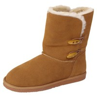 Womens Brumby Sheepskin Lined Suede Boot