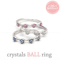 girlsluv.it - CRYSTALS BALL ring, 3 colors
