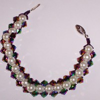 Bracelet Pearls and Beads Unique Jewelry