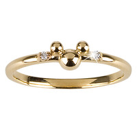 14 KT Gold and Diamond Mickey Mouse Ring - Disney Dream Collection | Disney Store