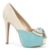 Canvas And Pastel Blue Bow Detail Platform