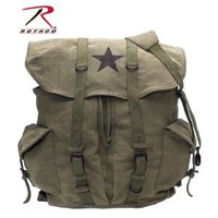 Rothco 9158 OLIVE DRAB VINTAGE STAR BACKPACK