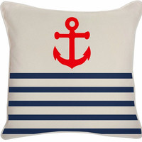 Outdoor Anchor Pillow in Lava design by Thomas Paul | BURKE DECOR