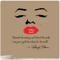 Marilyn Monroe Wall Decal ...