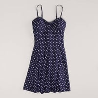 AE Polka Dot Skater Corset Dress | American Eagle Outfitters