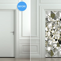 Door Wall STICKER poster diamond shimmer shine bling by Wallnit