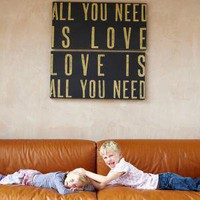 All You Need Is Love Canvas ? Cox &amp; Cox, the difference between house and home.
