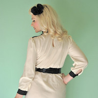 Vintage 1960s Mod Dress Color Block Black and White