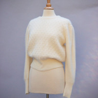 S A L E  Pearls a Plenty  Lambswool Vintage Sweater