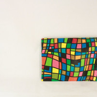 1960s Mod Color Block Change Purse or Pouch by FattyCattyVintage