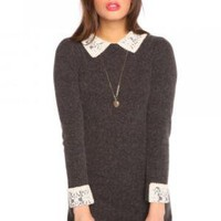 Alexa Sweater Dress - Charcoal | NASTY GAL | Jeffrey Campbell shoes, Evil Twin, MinkPink, BB Dakota, vintage dresses + more!