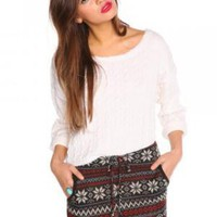 Snowflake Knit Skirt | NASTY GAL | Jeffrey Campbell shoes, Evil Twin, MinkPink, BB Dakota, vintage dresses + more!