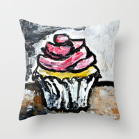 Sweet Treats Still Life: Cupcake Throw Pillow by Claudia McBain