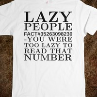 LAZY PEOPLE TEE T SHIRT