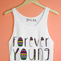 Forever Young Crop Tank Top | Yotta Kilo