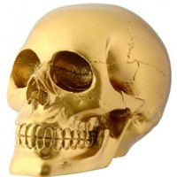 Gold Skull Head Collectible Skeleton Decoration Figurine:Amazon:Home & Kitchen