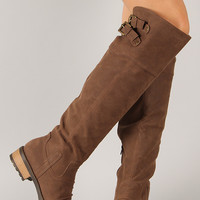 Relax-01XX Buckle Riding Knee High Boot