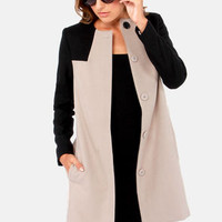 BB Dakota Hana Black and Taupe Coat