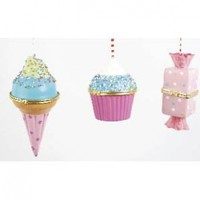 Ice Cream, Cupcake & Candy Hinged Trinket Box / Ornament, Set of 3, Pink:Amazon:Home & Kitchen