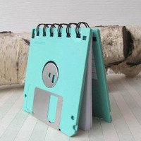 Seafoam Green Recycled Geek Gear Blank Floppy Disk by Fishstikks