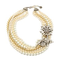Charm & Chain | Multi-Strand Pearl and Crystal Necklace