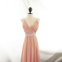 Great Gatsby Dusty Pink Blush Romantic Dress by RiverOfRomansk