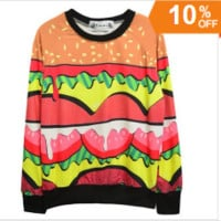 Hamburger Crewneck Sweatshirt