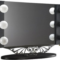 "Starlet Table Top Lighted Vanity Mirror 34"" - Black:Amazon:Office Products"