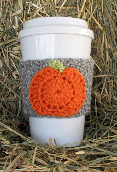 Crochet Pumpkin Coffee Cup Cozy from TheEnchantedLadybug on Wanelo