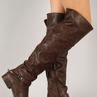 Dollhouse Calvary Leatherette Round Toe Riding Boot