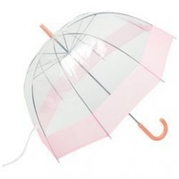"""All-Weather 42"""" Clear Dome Umbrella (Pink/Clear):Amazon:Clothing"""