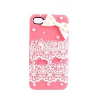 Fashion Lace with Bows Cover for Iphone 5