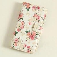 Retro Vintage Cover Flower Print Case for iPhone 5