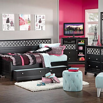 Suki Black   4 Pc Daybed Bedroom