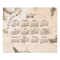 Old Brown Paint 2018 Wall Calendar Poster