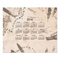 Old Brown Paint 2016 Wall Calendar Poster